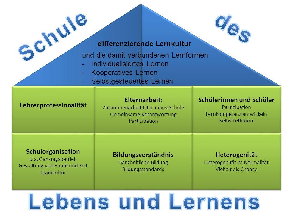 differenzierende Lernkultur und die damit verbundenen Lernformen -Individualisiertes Lernen -Kooperatives Lernen -Selbstgesteuertes Lernen Lehrerprofe