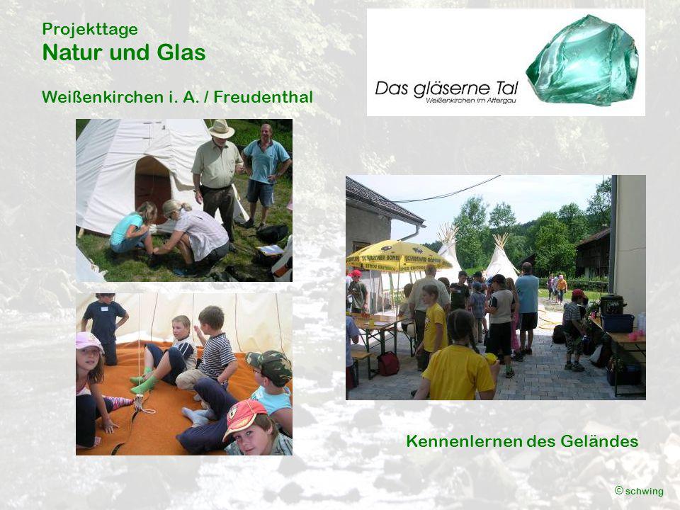 Projekttage Natur und Glas Weißenkirchen i. A. / Freudenthal © schwing Kennenlernen des Geländes