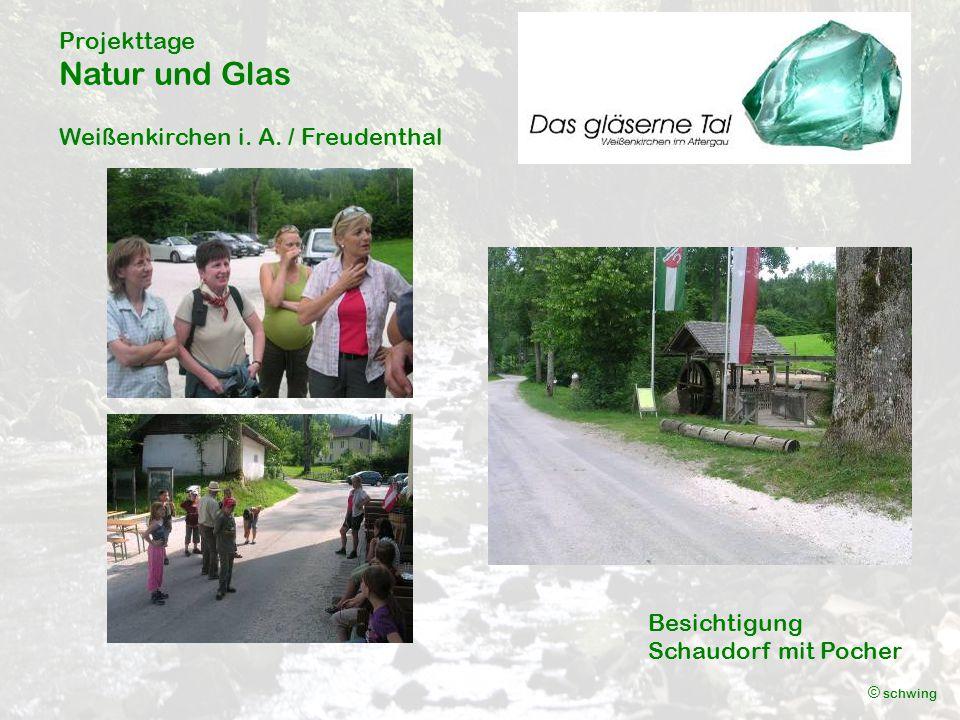 Projekttage Natur und Glas Weißenkirchen i. A. / Freudenthal © schwing Freizeit