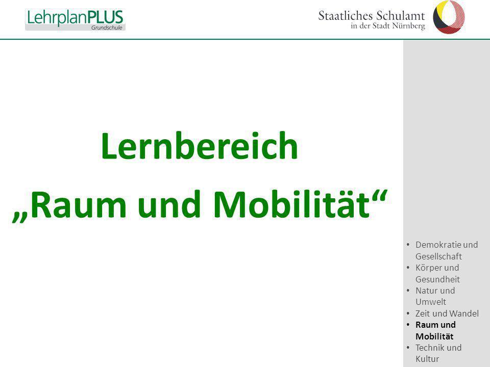 """^ Lernbereich """"Raum und Mobilität"""" Demokratie und Gesellschaft Körper und Gesundheit Natur und Umwelt Zeit und Wandel Raum und Mobilität Technik und K"""