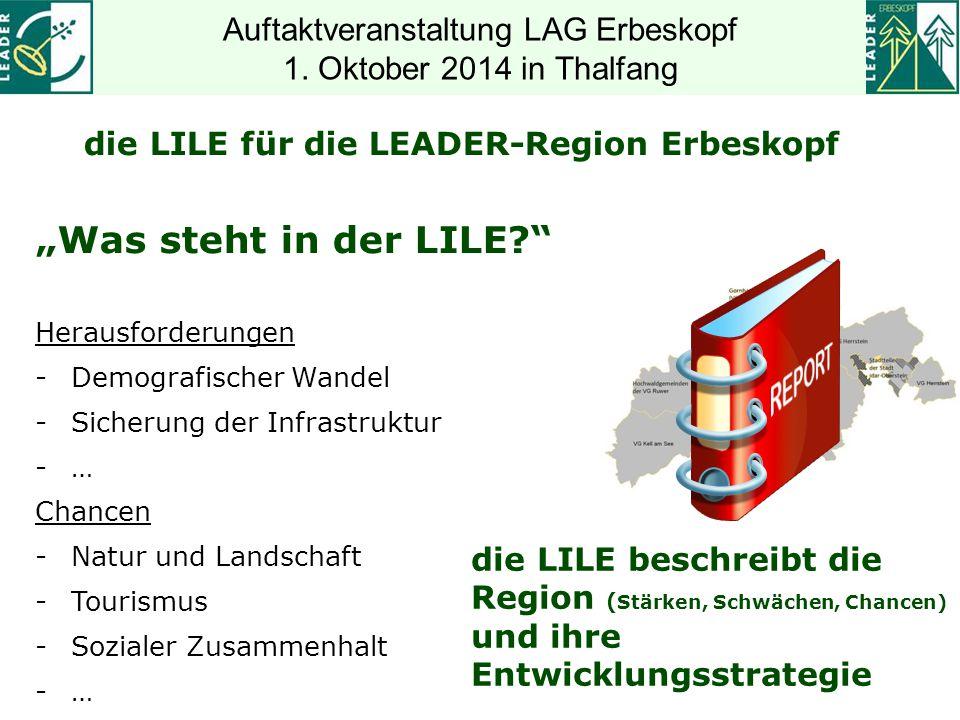 Regioen Moselfranken und Miselerland Zukunftswerkstatt am 02.04.2014 Auftaktveranstaltung LAG Erbeskopf 1.