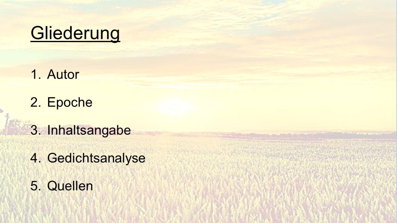 5.Strophe Du segnest herrlich Das frische Feld, Im Blütendampfe Die volle Welt.