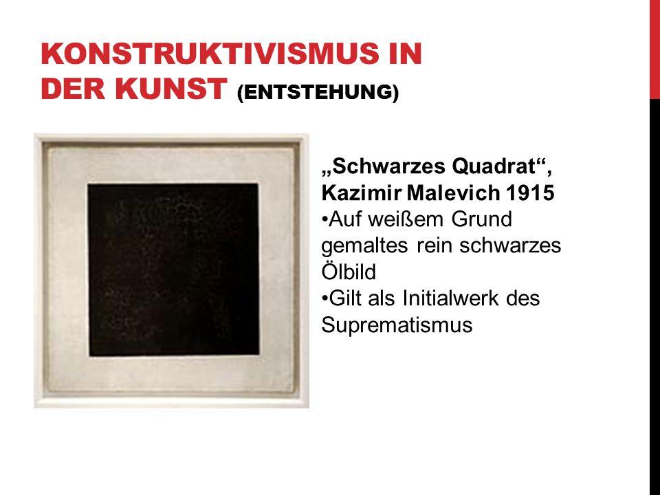 """KONSTRUKTIVISMUS IN DER KUNST (ENTSTEHUNG) """"Schwarzes Quadrat"""", Kazimir Malevich 1915 Auf weißem Grund gemaltes rein schwarzes Ölbild Gilt als Initial"""