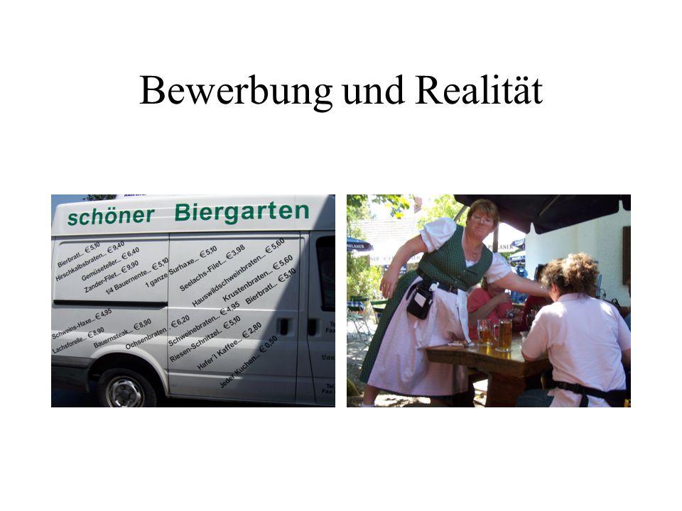 Bewerbung und Realität