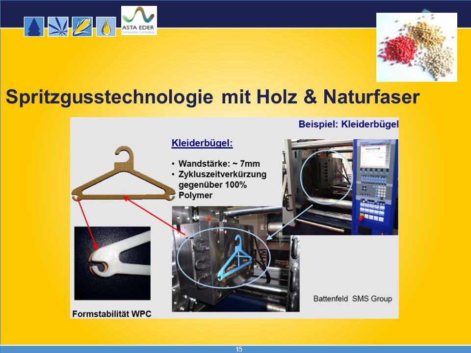 15 Spritzgusstechnologie mit Holz & Naturfaser