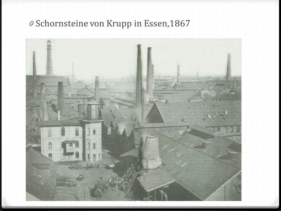 0 Schornsteine von Krupp in Essen,1867