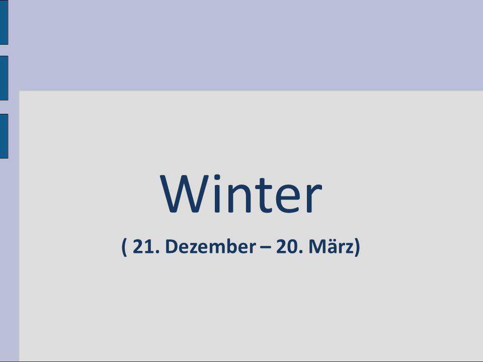 Winter ( 21. Dezember – 20. März)