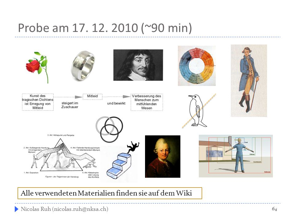 Probe am 17. 12. 2010 (~90 min) Nicolas Ruh (nicolas.ruh@nksa.ch) Alle verwendeten Materialien finden sie auf dem Wiki 64