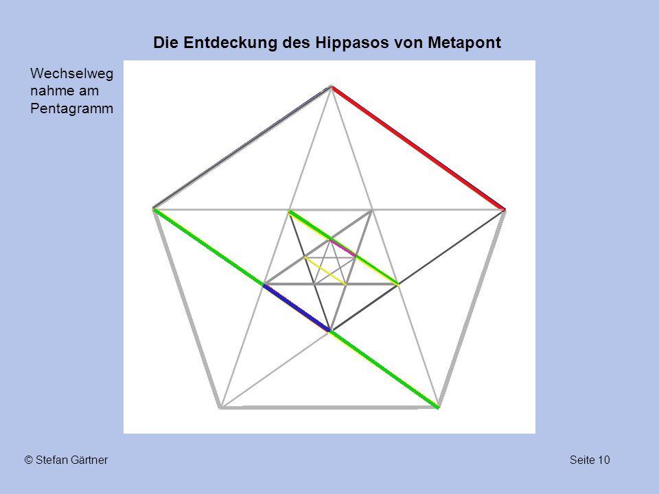 Die Entdeckung des Hippasos von Metapont Seite 10© Stefan Gärtner Wechselweg nahme am Pentagramm