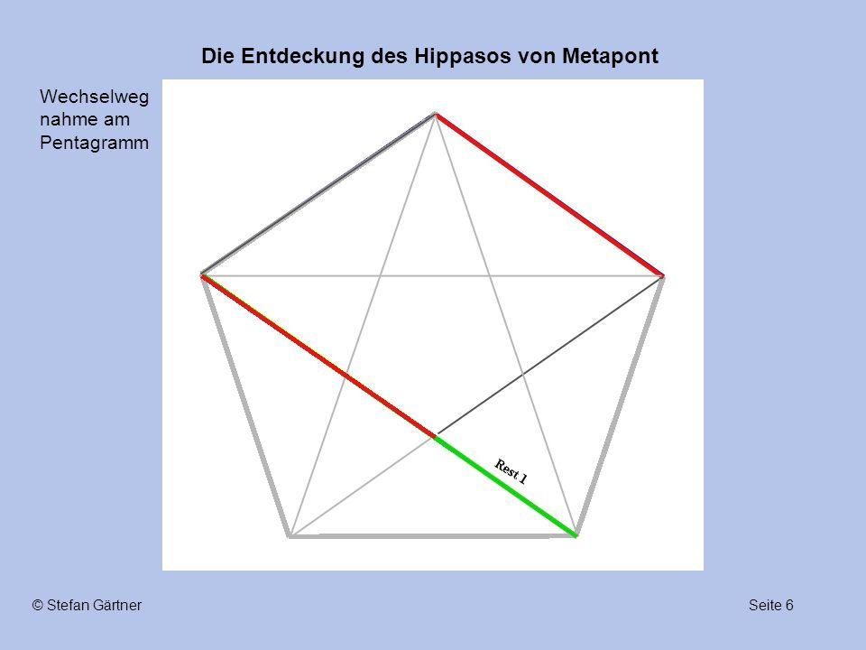 Die Entdeckung des Hippasos von Metapont Seite 6© Stefan Gärtner Wechselweg nahme am Pentagramm