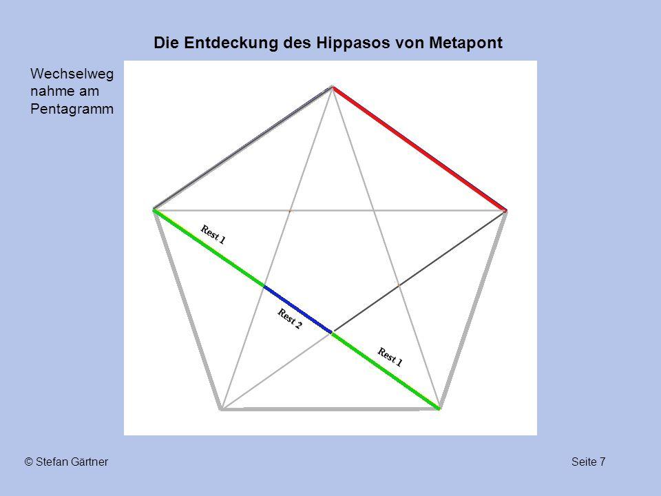 Die Entdeckung des Hippasos von Metapont Seite 7© Stefan Gärtner Wechselweg nahme am Pentagramm