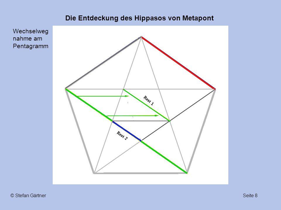 Die Entdeckung des Hippasos von Metapont Seite 8© Stefan Gärtner Wechselweg nahme am Pentagramm
