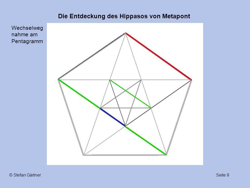 Die Entdeckung des Hippasos von Metapont Seite 9© Stefan Gärtner Wechselweg nahme am Pentagramm