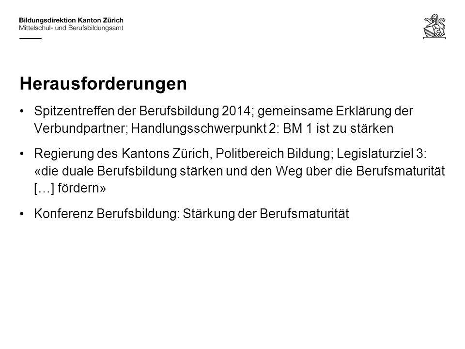 Herausforderungen Spitzentreffen der Berufsbildung 2014; gemeinsame Erklärung der Verbundpartner; Handlungsschwerpunkt 2: BM 1 ist zu stärken Regierun