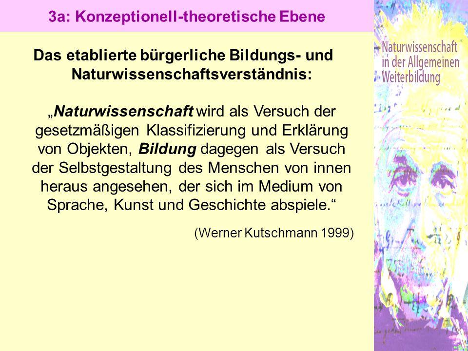 """Das etablierte bürgerliche Bildungs- und Naturwissenschaftsverständnis: """"Naturwissenschaft wird als Versuch der gesetzmäßigen Klassifizierung und Erkl"""