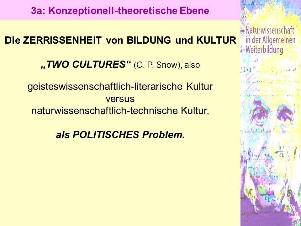 """Die ZERRISSENHEIT von BILDUNG und KULTUR """"TWO CULTURES"""" (C. P. Snow), also geisteswissenschaftlich-literarische Kultur versus naturwissenschaftlich-te"""