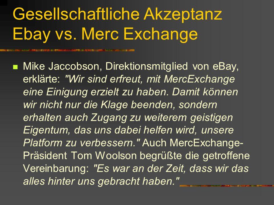 Gesellschaftliche Akzeptanz Ebay vs.