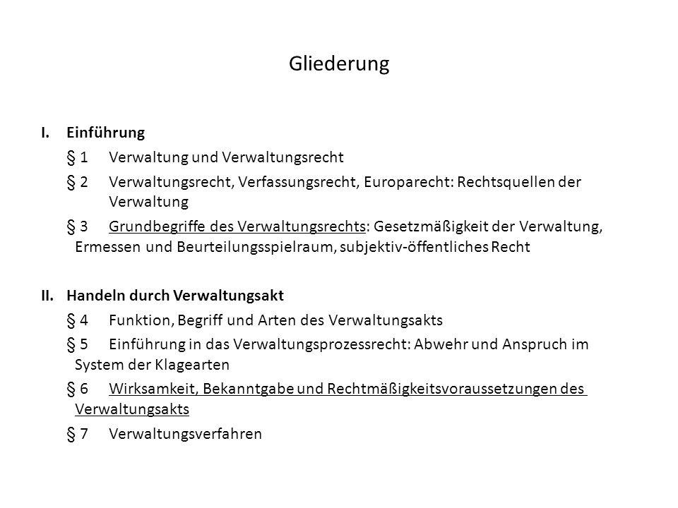Eröffnung des Verwaltungsrechtswegs, § 40 Abs.1 S.