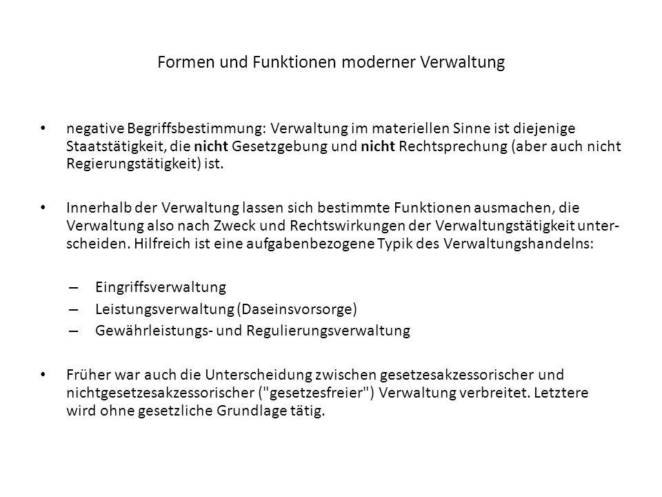 Verwaltungsrecht und Verfassungsrecht Verwaltungsrecht als konkretisiertes Verfassungsrecht (Fritz Werner): Konstitutionalisierungsthese Art.