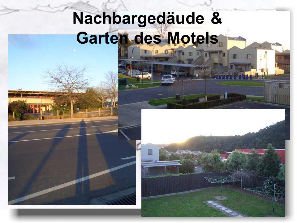 Nachbargedäude & Garten des Motels