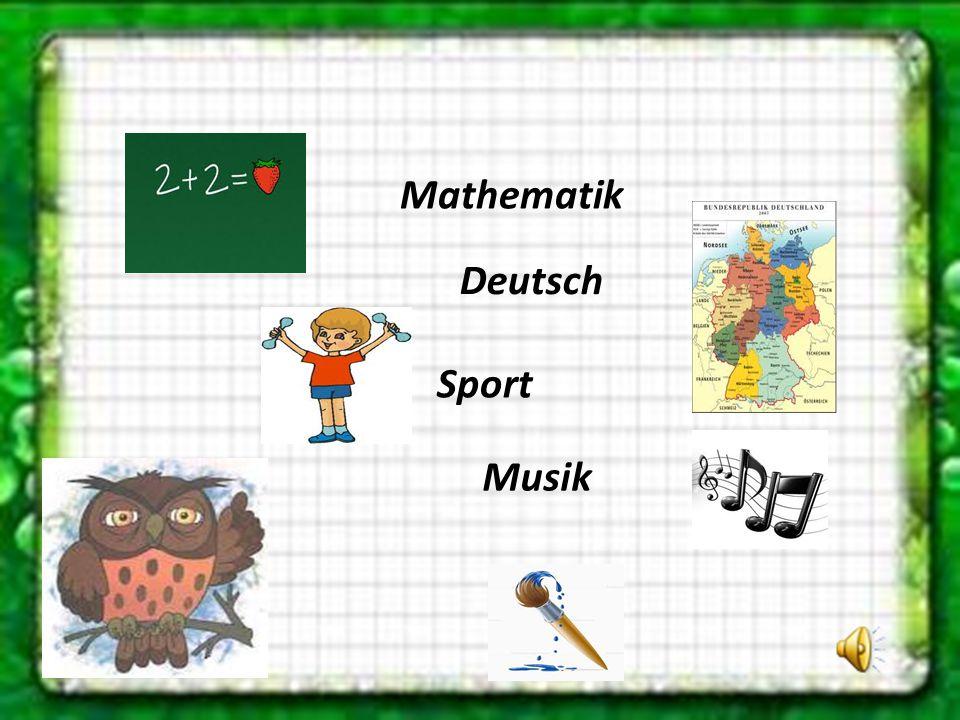 Mathematik Sport Deutsch Musik