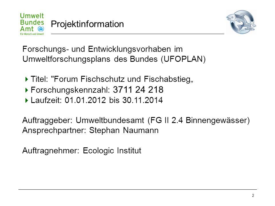 2 Forschungs- und Entwicklungsvorhaben im Umweltforschungsplans des Bundes (UFOPLAN)  Titel: