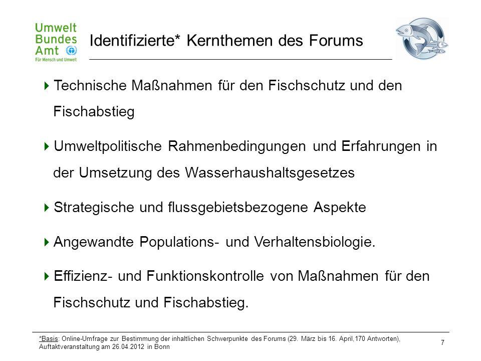 7  Technische Maßnahmen für den Fischschutz und den Fischabstieg  Umweltpolitische Rahmenbedingungen und Erfahrungen in der Umsetzung des Wasserhaus