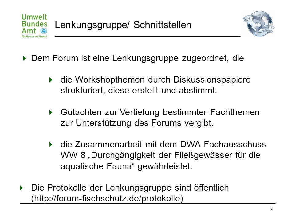 8  Dem Forum ist eine Lenkungsgruppe zugeordnet, die  die Workshopthemen durch Diskussionspapiere strukturiert, diese erstellt und abstimmt.  Gutac