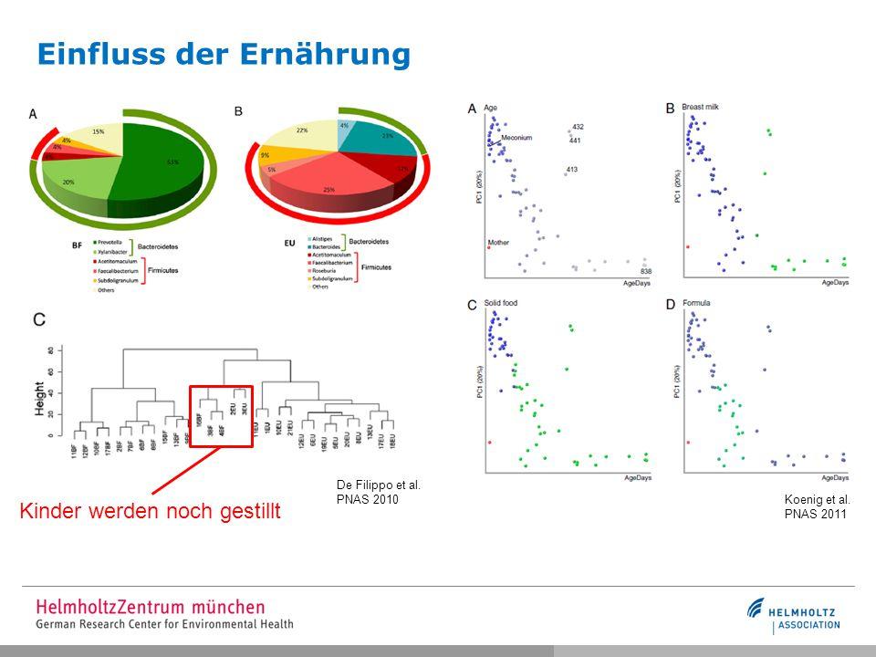 Veränderung des Darmmikrobioms über die Zeit Endesfelder et al., Diabetes 2014