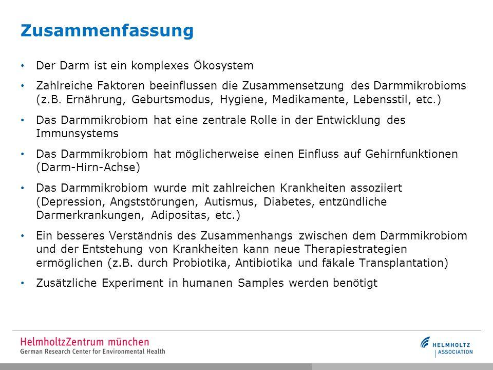 Danksagung PD Dr.W. zu Castell Scientific Computing Research Unit Helmholtz Zentrum München Prof.
