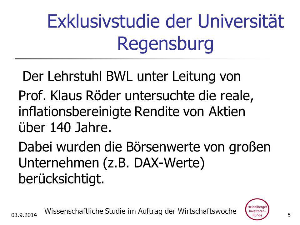 Exklusivstudie der Universität Regensburg Der Lehrstuhl BWL unter Leitung von Prof.