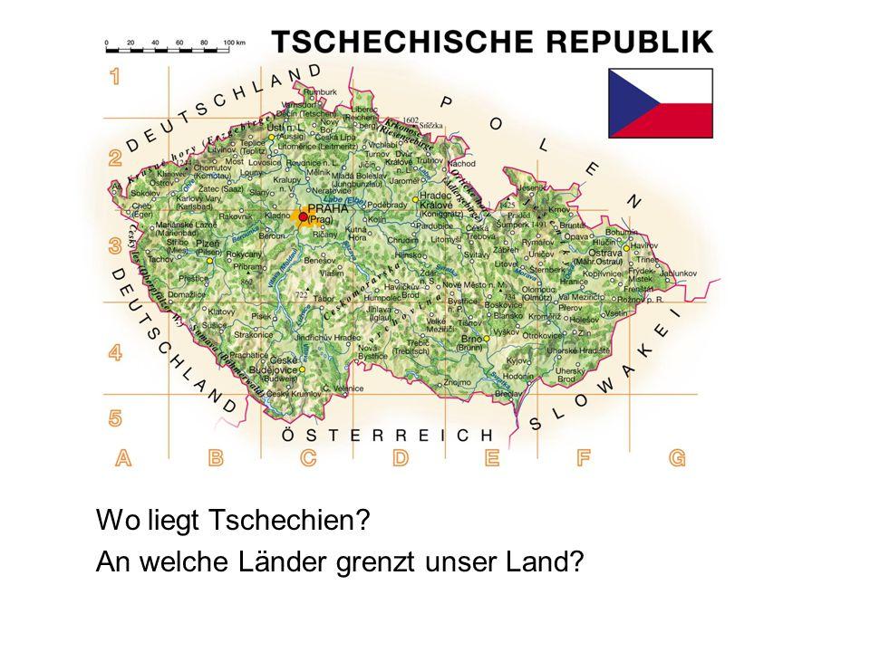 Wo liegt Tschechien An welche Länder grenzt unser Land