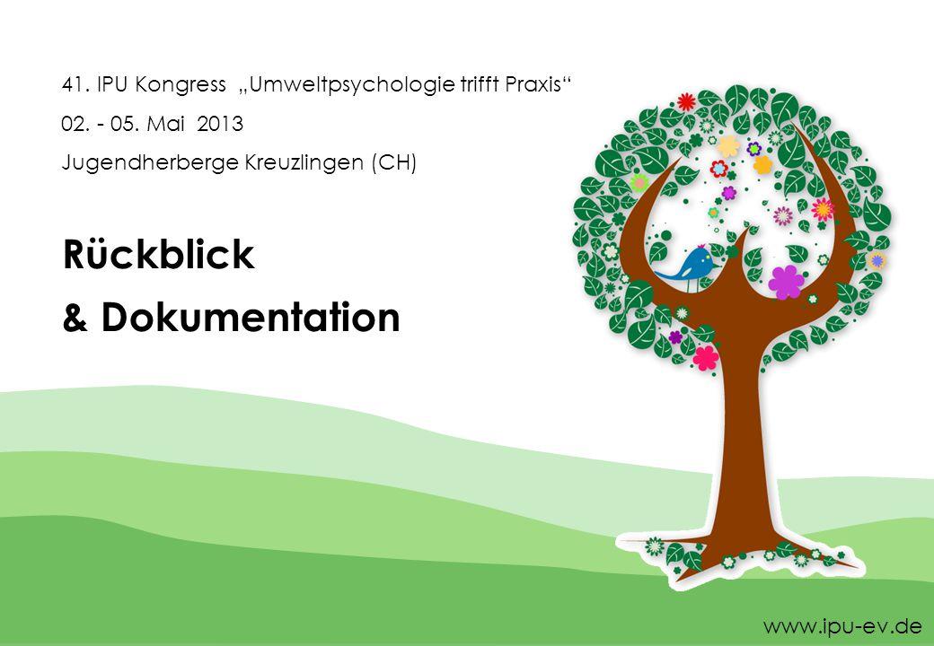 """41. IPU Kongress """"Umweltpsychologie trifft Praxis 02."""