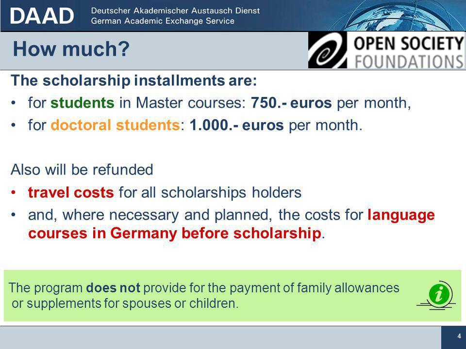 15 Application deadline and address October, 31 Deutsche Botschaft Skenderija 3 Kennwort DAAD/OSI 71000 Sarajevo