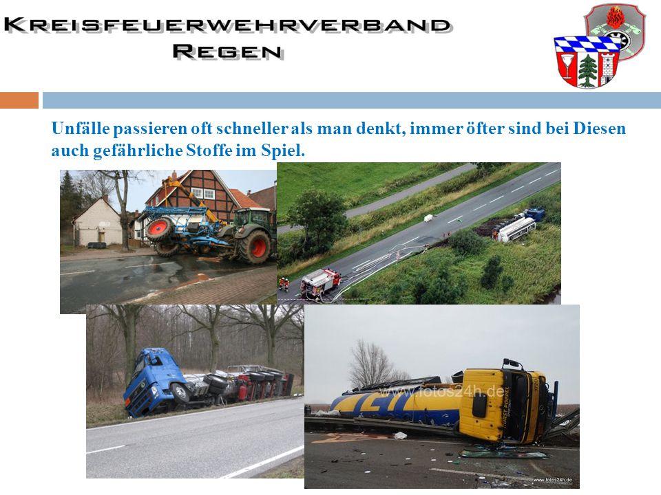 Unfälle passieren oft schneller als man denkt, immer öfter sind bei Diesen auch gefährliche Stoffe im Spiel.