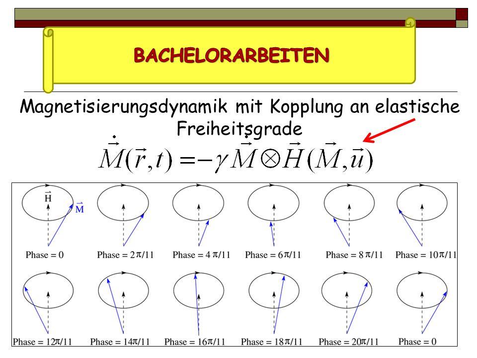 Magnetisierungsdynamik mit Kopplung an elastische Freiheitsgrade