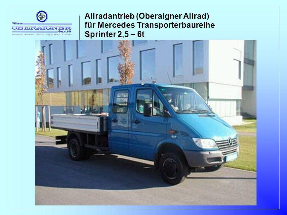 Sprinter Allrad Technische Beschreibung Einleitung Dem ausdrücklichen Wunsch vieler Kunden entsprechend hat Fa.