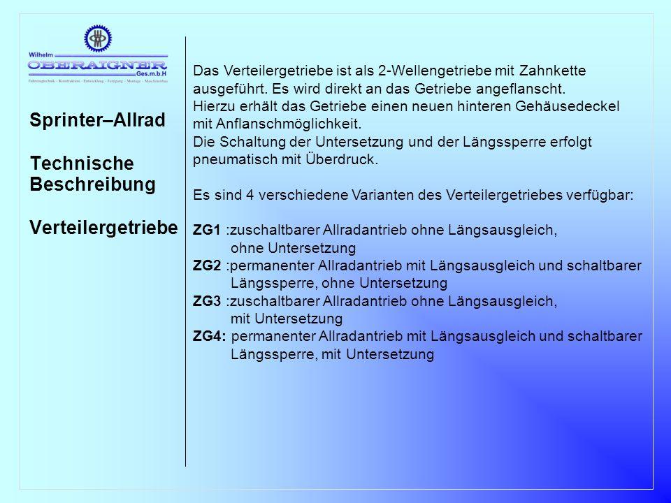 Sprinter–Allrad Technische Beschreibung Verteilergetriebe 1 2 3 4 5 6 7