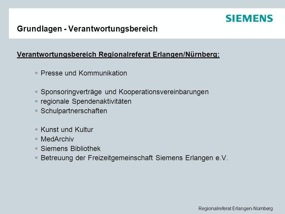 Regionalreferat Erlangen-Nürnberg Grundlagen - Verantwortungsbereich Verantwortungsbereich Regionalreferat Erlangen/Nürnberg:  Presse und Kommunikati