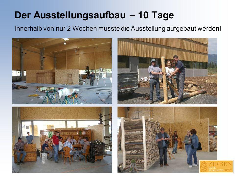 Der Ausstellungsaufbau – 10 Tage Innerhalb von nur 2 Wochen musste die Ausstellung aufgebaut werden!