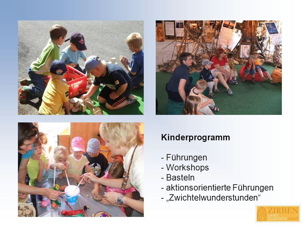"""Kinderprogramm - Führungen - Workshops - Basteln - aktionsorientierte Führungen - """"Zwichtelwunderstunden"""