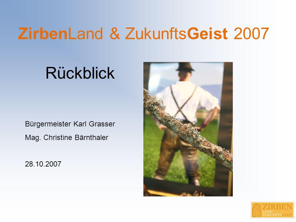 Wie alles begann… April 2005: Initiative und Wunsch der Bürgermeister der Gemeinden Eppenstein und Obdach eine regionale Ausstellung im Zirbenland zu machen Juni 2005: Beauftragung Mag.
