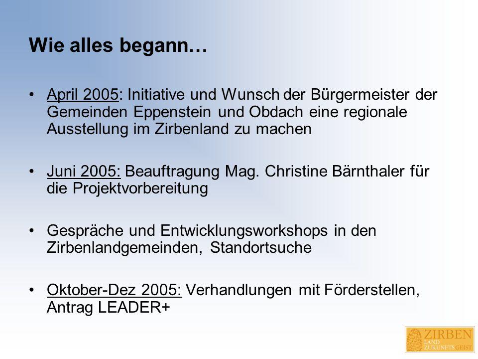 """Ausblick """"Virtuelles Museum im Internet Wanderausstellung """"ZirbenLand & ZukunftsGeist 2008: Volksschule St."""