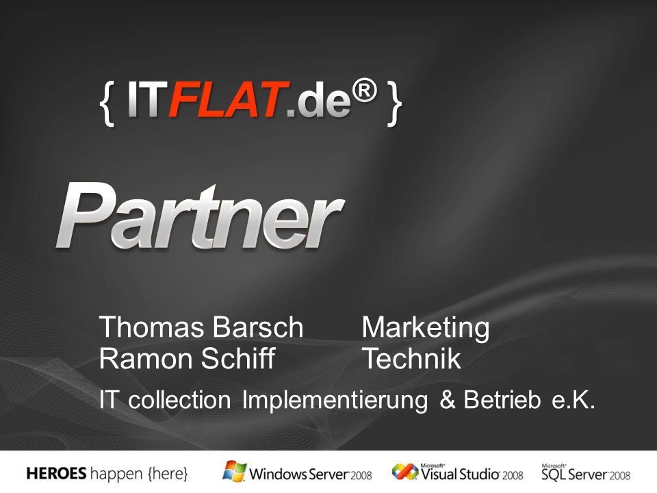 Thomas Barsch Marketing Ramon Schiff Technik IT collection Implementierung & Betrieb e.K.