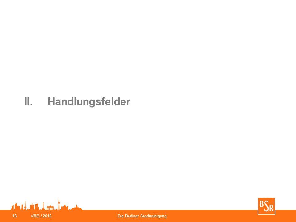 VBG / 2012Die Berliner Stadtreinigung 13 II.Handlungsfelder