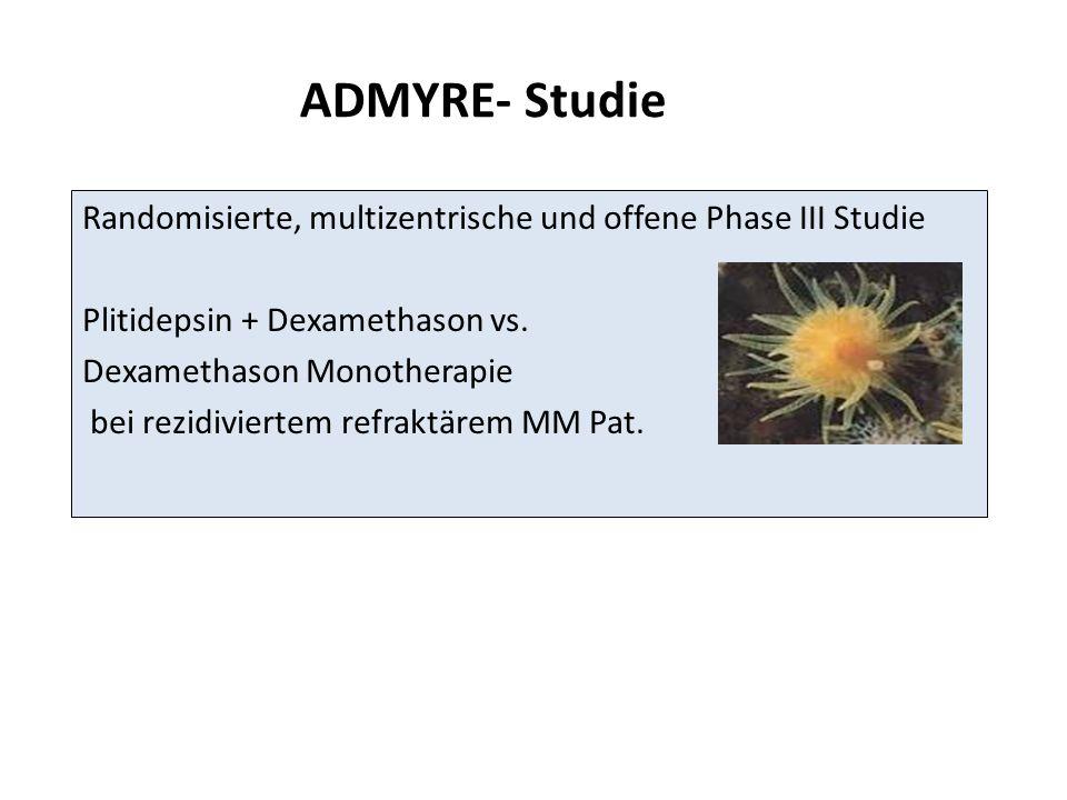 Randomisierte, multizentrische und offene Phase III Studie Plitidepsin + Dexamethason vs. Dexamethason Monotherapie bei rezidiviertem refraktärem MM P