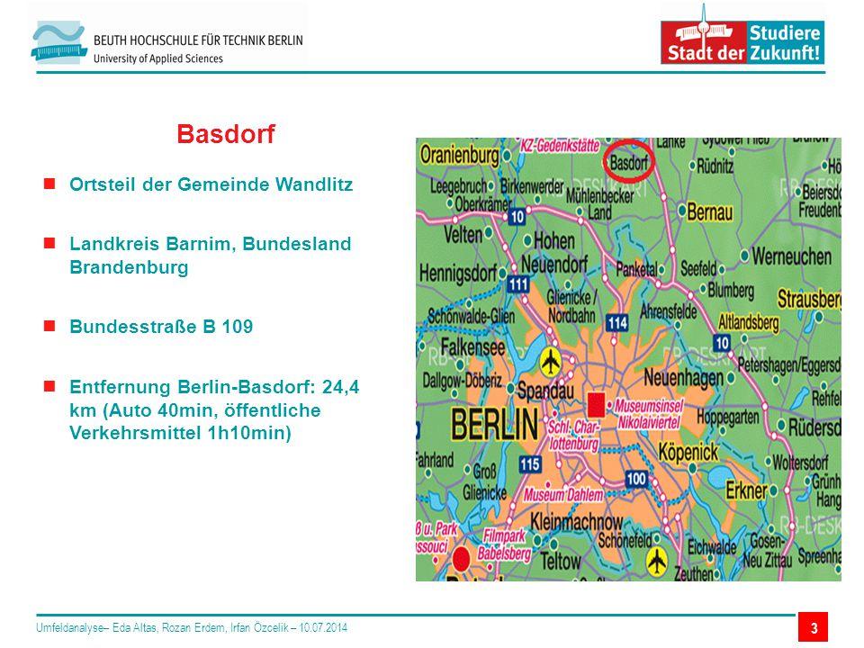 3 Basdorf Ortsteil der Gemeinde Wandlitz Landkreis Barnim, Bundesland Brandenburg Bundesstraße B 109 Entfernung Berlin-Basdorf: 24,4 km (Auto 40min, ö