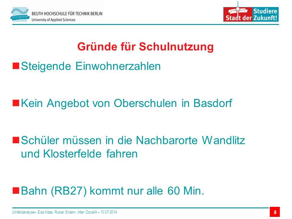 Steigende Einwohnerzahlen Kein Angebot von Oberschulen in Basdorf Schüler müssen in die Nachbarorte Wandlitz und Klosterfelde fahren Bahn (RB27) kommt