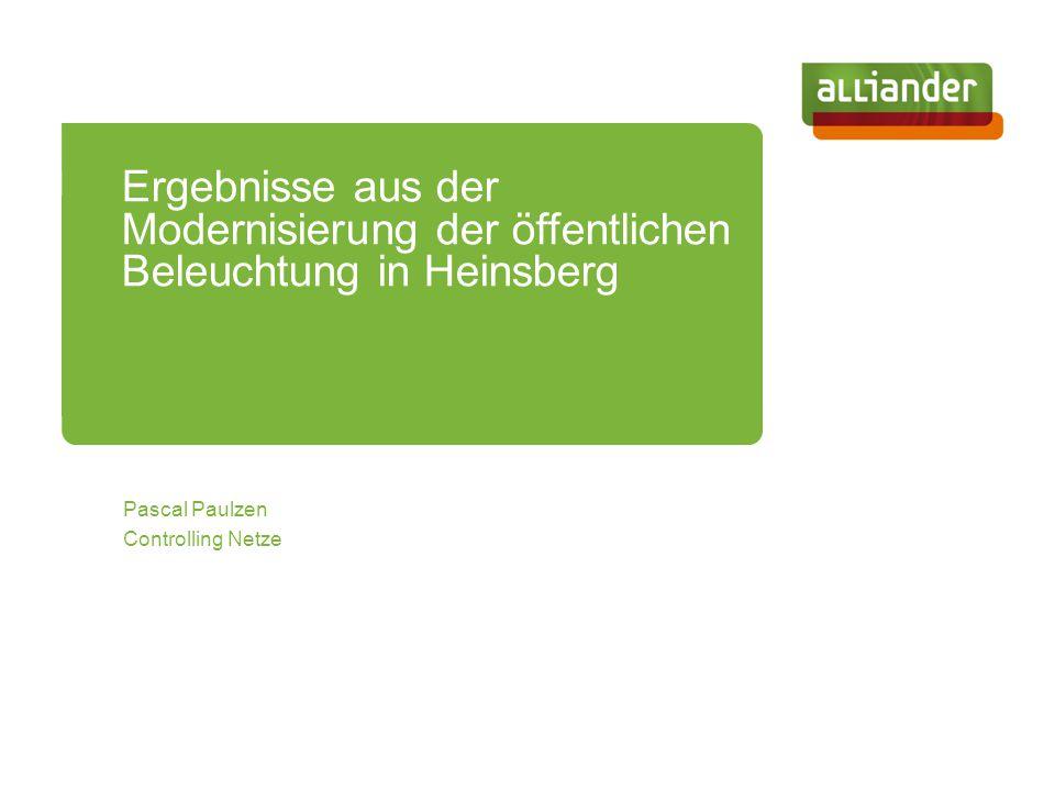 Pascal Paulzen Controlling Netze Ergebnisse aus der Modernisierung der öffentlichen Beleuchtung in Heinsberg
