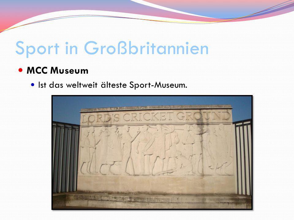 Sport in Großbritannien MCC Museum Ist das weltweit älteste Sport-Museum.